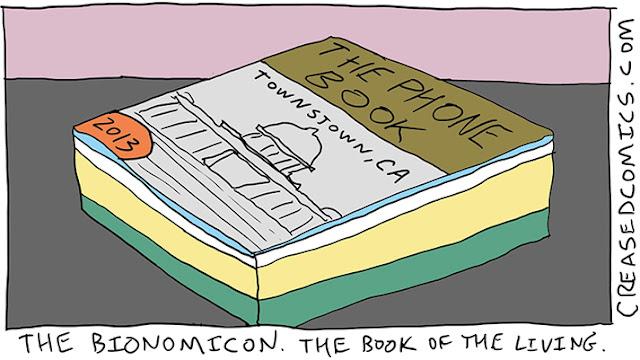 Creased Comics - The Bionomicon, the book of the living