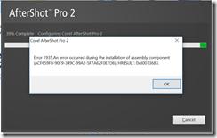 aftershot error