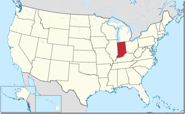 Indiana (1816): Estado de Estados Unidos