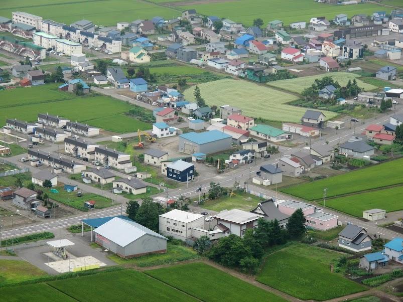北竜町和本町を臨む