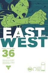 """Actualización 08/04/2018: Se agrega el número #36 de East of West, por GinFizz para la pagina de Facebook G-Comis, Prix-Comics y How To Arsenio Lupin. """"Hemos tomado todo lo que tienes. Borraremos todo lo que has sido."""""""