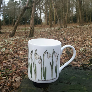 Snowdrop China Mug by Alice Draws The Line