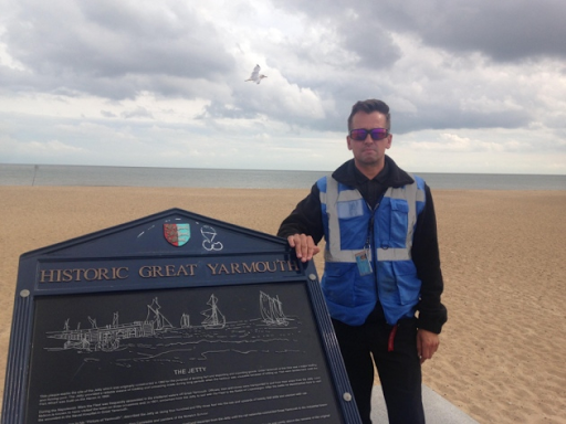 Great Yarmouth's Marina Centre security officer saves a man's life