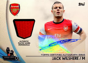 Jack Wilshere Topps Premier Gold 2013 auto jersey