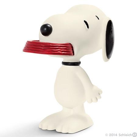 Contenido real de Schleich® 22002 Snoopy con su Comedero