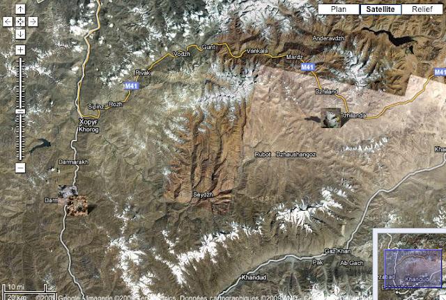 Localisation des photos : Pamir occidental et Pamir méridional