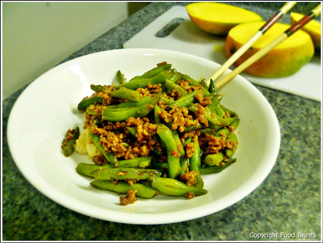 Szechuan beans and pork recipe