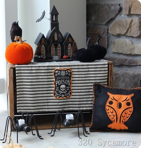 black orange halloween decor