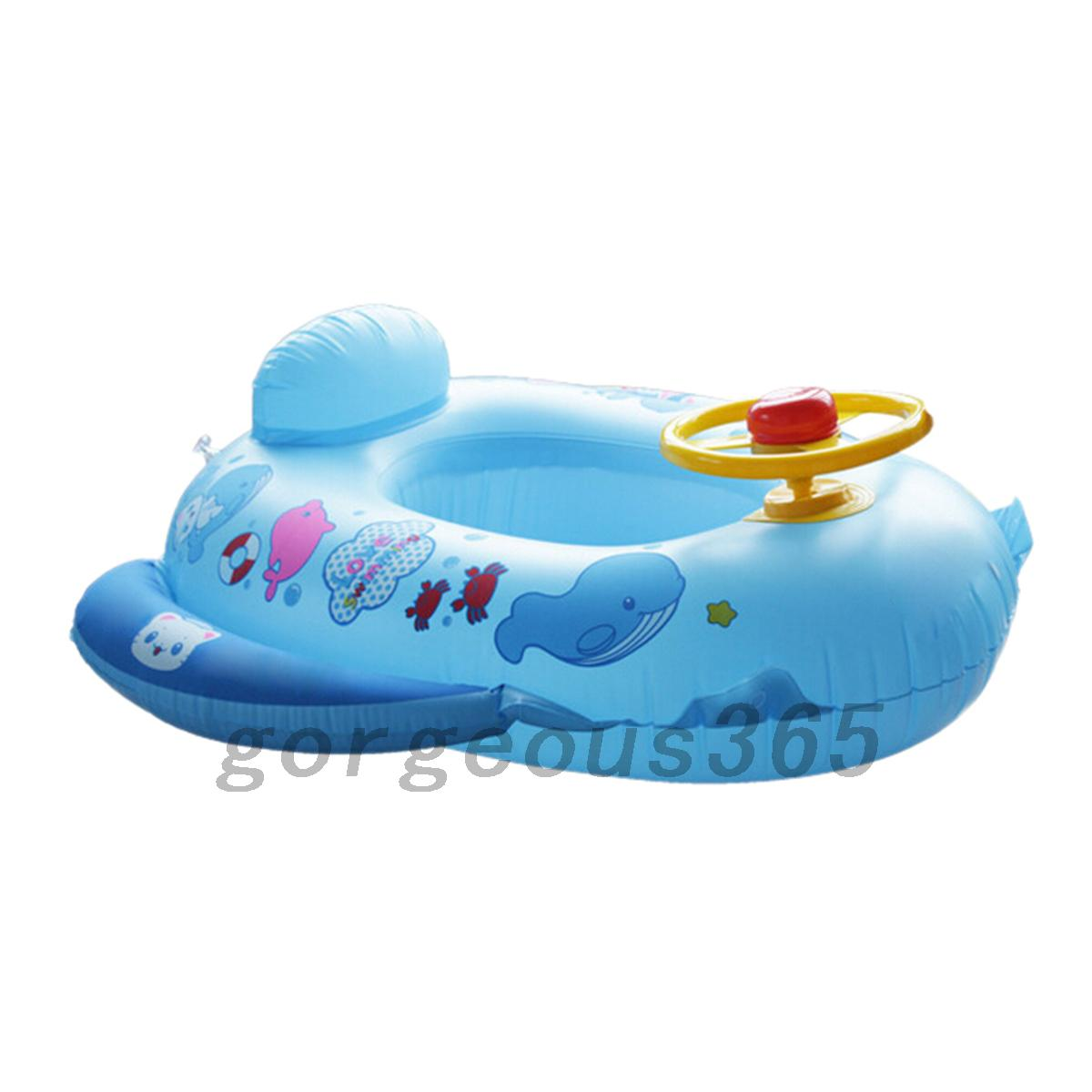 Wheel Horn Inflatable Kids Baby Pool Swim Ring Seat Float Boat Swimming Aid Ebay