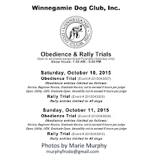 WDC Obedience/Rally Trial Oct. 2015