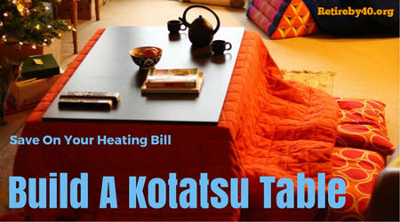DIY make your own Kotatsu table