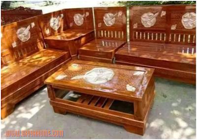 meja klasik kayu jati