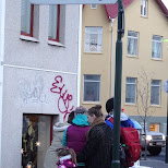 Skolavordustigur - one long street name in Reykjavik, Hofuoborgarsvaeoi, Iceland
