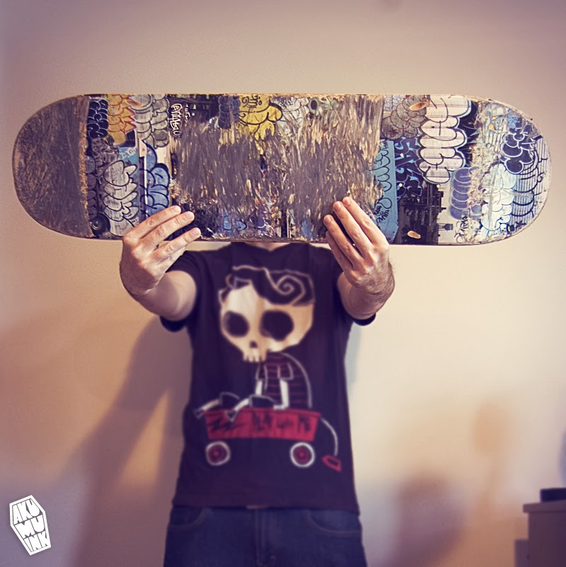 skateboard, skateboard artist, customize skateboard, custom skateboard art, skateboards for hope, akumuink