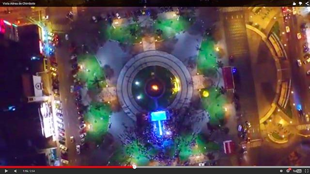 Vista aérea de Chimbote –filmado con un dron