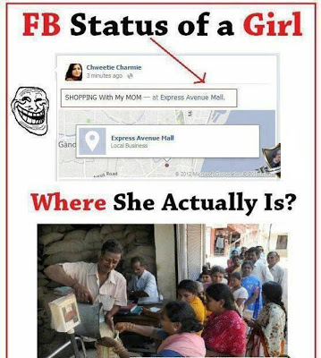 Reality of Facebook statuses!! Fake!