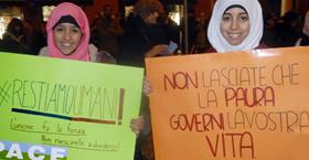 modena 1 dicembre 2015. manifestazione contro il terrorismo