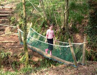 Rope Bridge in the Mazzard Farm woods