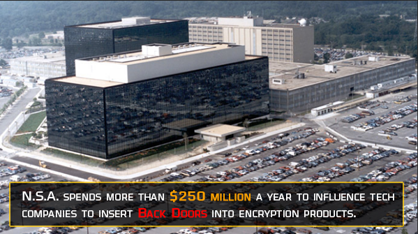 NSA influence tech companies to insert backdoors into commercial products