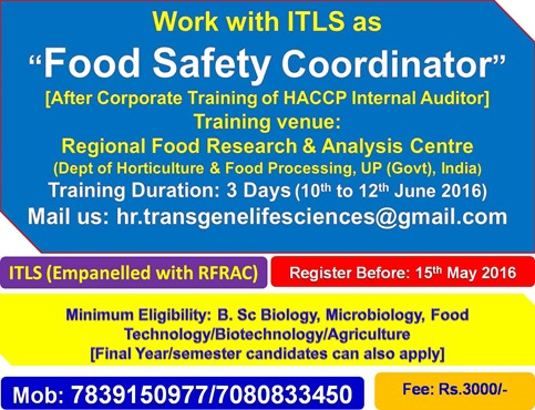 FOOD SAFETY COORDINATOR TRAINING