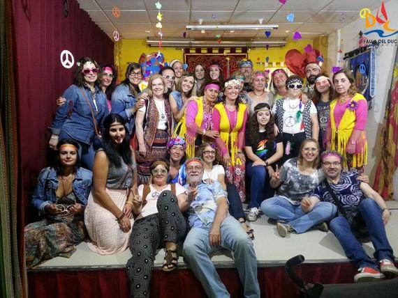 Movimiento hippie en el Casal del Duc