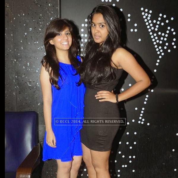 Alisha and Krithi at the 12th anniversary party of Dublin, held at Sheraton Park and Towers.