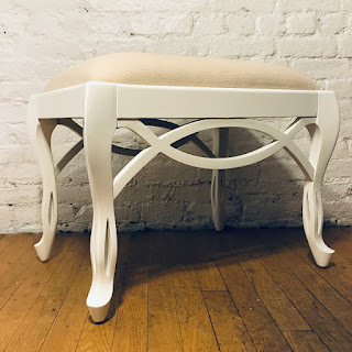 Lacquered White Bench #2