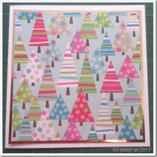 Contemporary Christmas Tree Card