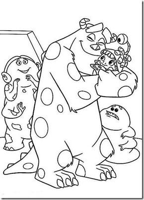 colorear monstrus boo, Sully (4)