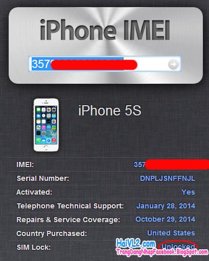 bản iphone của bạn là bản iphone quốc tế