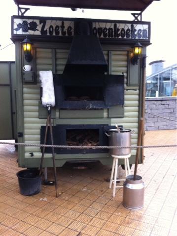 Crêpe au feu de bois