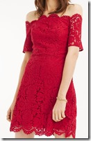 Oasis Lace Bardot Dress