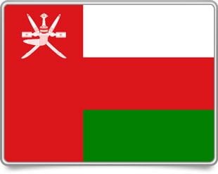 Omani framed flag icons with box shadow