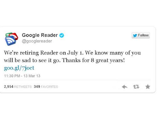 Desaparece Google Reader