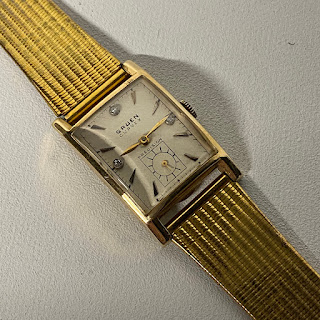 14K Gold & Diamonds Gruen Ladies Watch