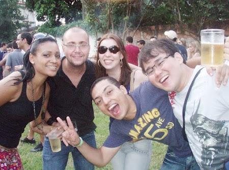 Aline, Michel, Bru, Henrique & eu