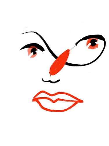 Gesichter einer Frau