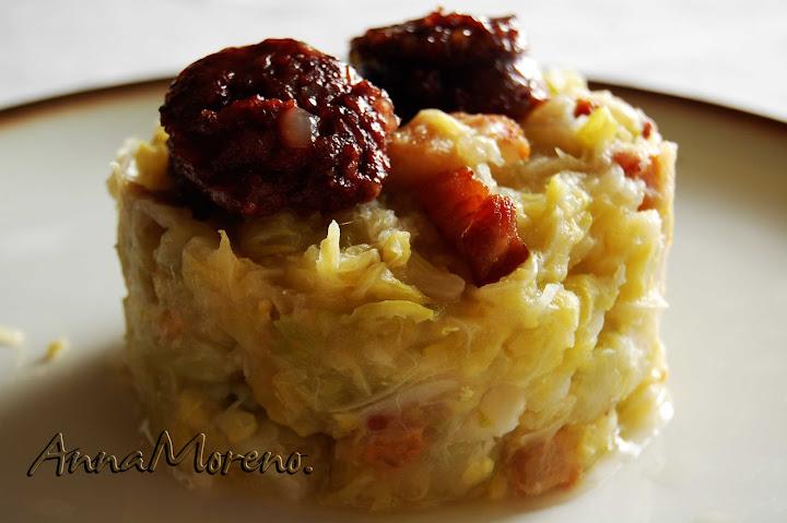Buenas Migas Blog De Cocina De Anna Moreno Trinxat De Col Y Patata Tradicional Con Butifarra Negra