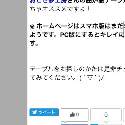 bloggerブログの記事ページ