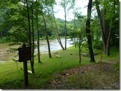 Camp sites along the New River Trail