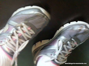 Photo: Day 3 my running shoes and new comfy socks. :)