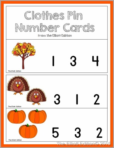 Clothes Pin Number Card picture