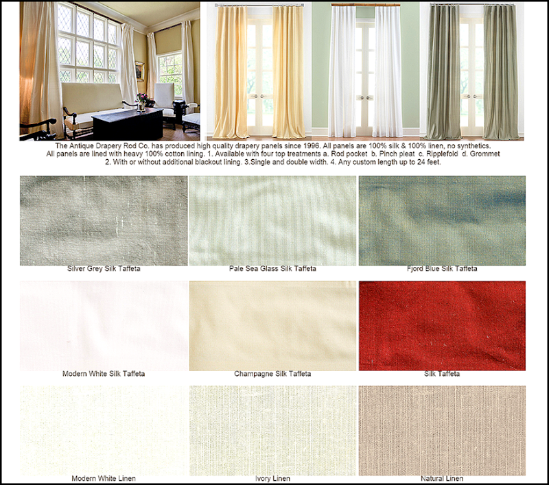 They also sell curtains! You can order them lined and interlined with blackout! Up to 24' long. If you need curtains – this is a great way to get them – the ...
