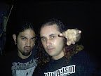 With Martin Lopez, ex-OPETH drummer
