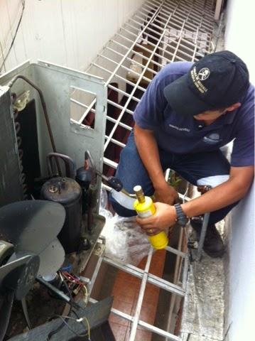cambio de motor compresor de aire acondicionado