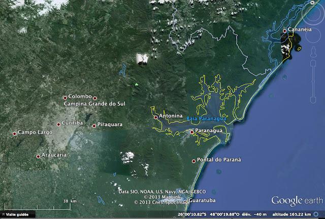Le Paraná entre Curitiba et l'Océan atlantique
