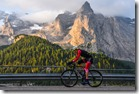 haute route dolomites 8 set 2017 - ascesa alpasso fedaia, sullo sfondo la  marmolada