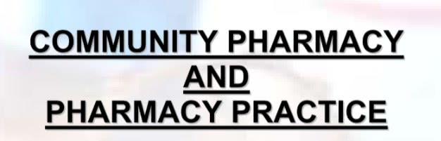 تحميل كتاب community pharmacy