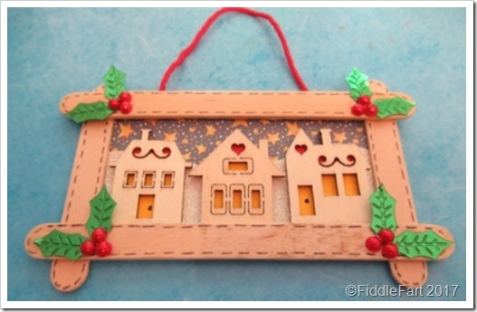 craft stick popsicle stick christmas tree decoration. Christmas houses decoration