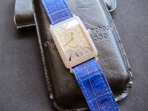 Bán đồng hồ Franck muller – long island – Model Sc 1000 – Vỏ hạt xoàn – Mặt hạt xoàn – Vàng trắng